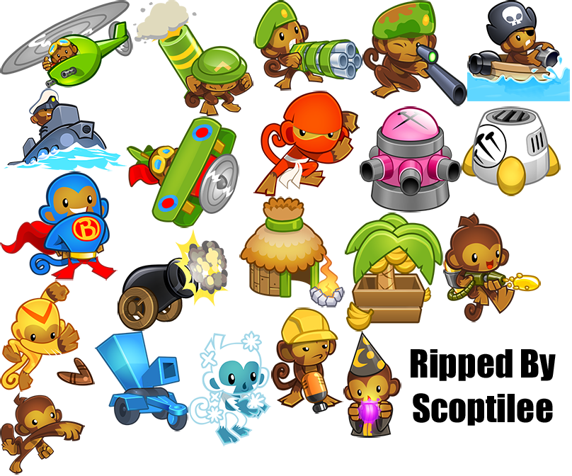 The Spriters Resource - Full Sheet View - Bloons Tower ...