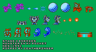 Monster in My Pocket - Stage 3 Enemies