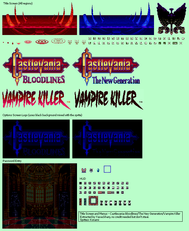 Title Screen and Menus