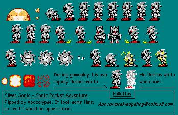 Mecha Sonic Sprites Resource
