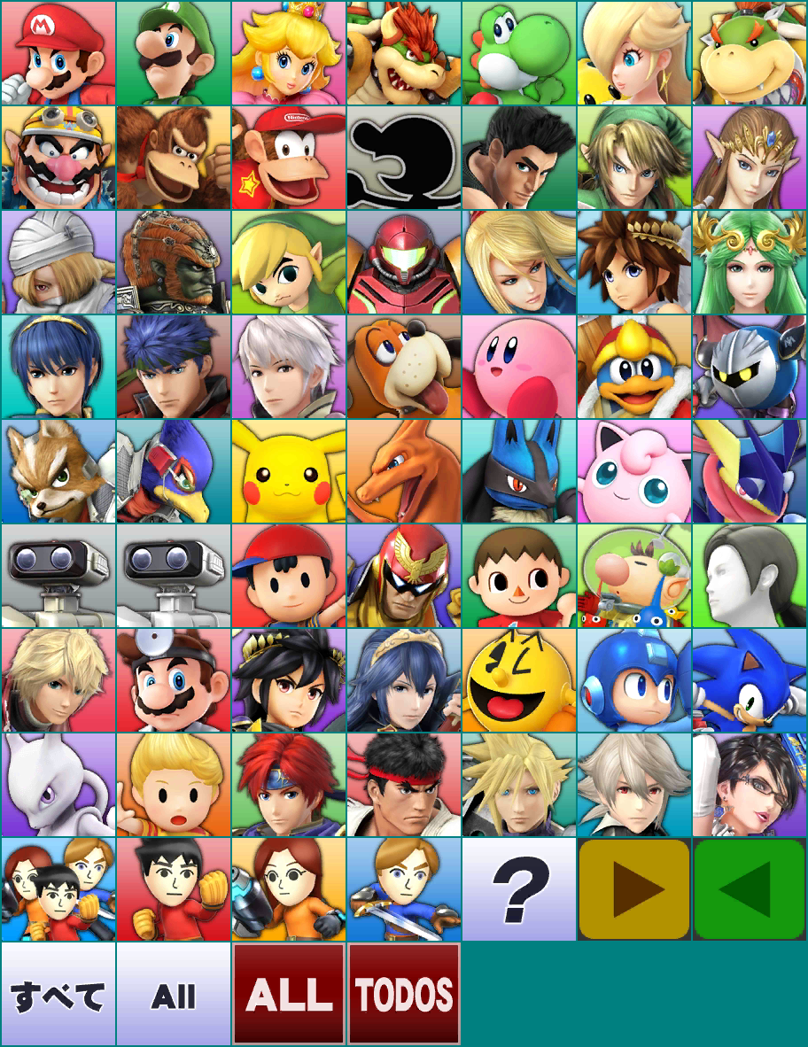 Character Select Icons