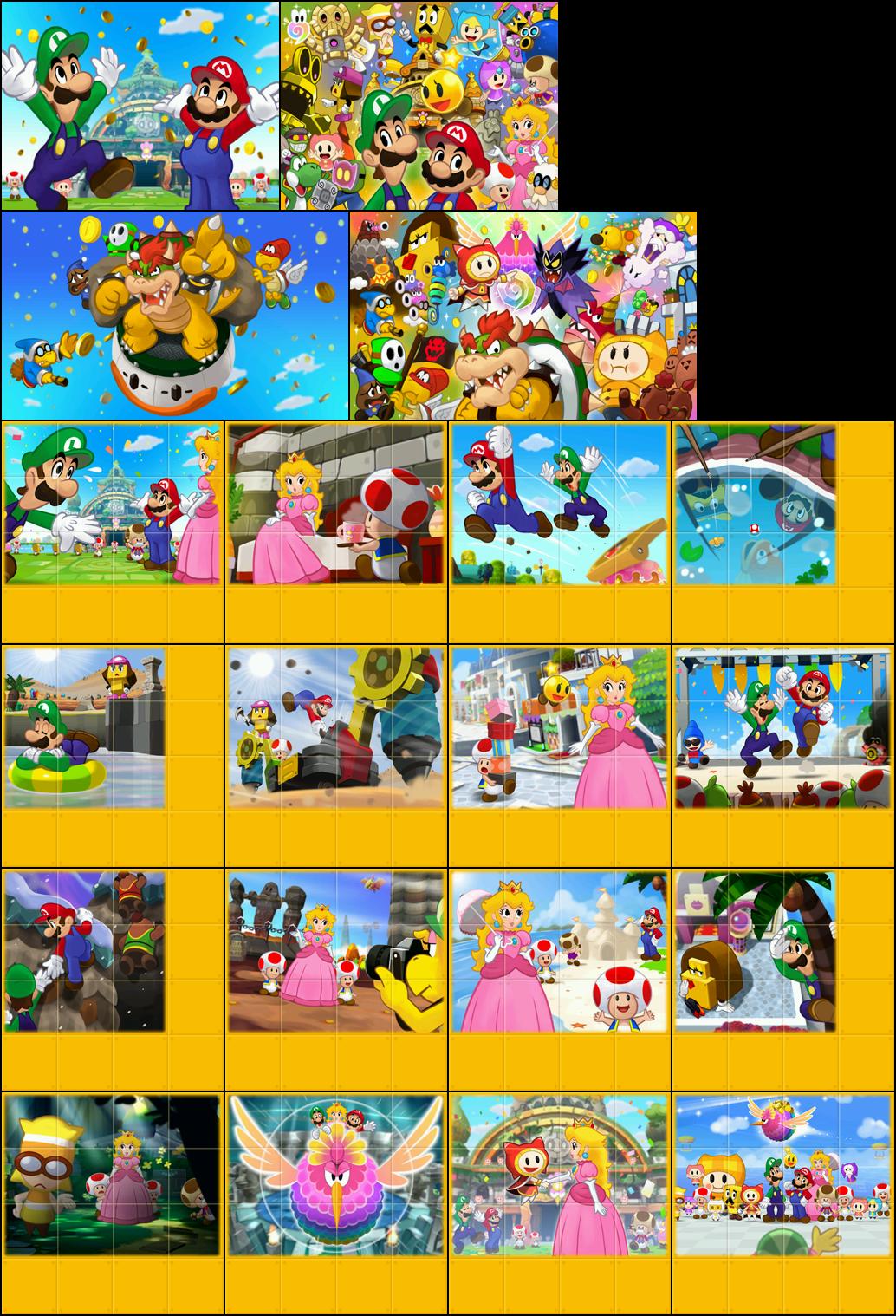 The Spriters Resource Full Sheet View Mario Amp Luigi Dream Team Staff Roll Images