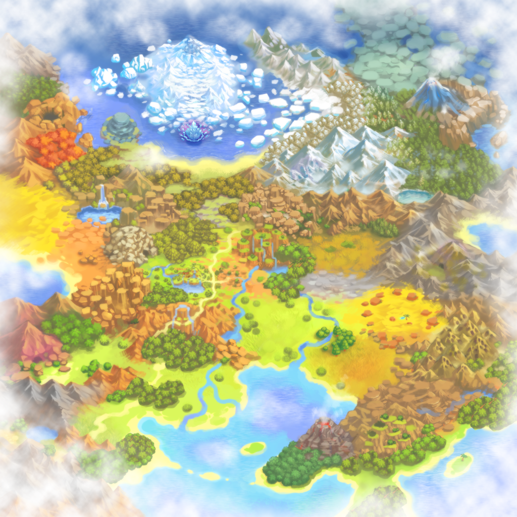 Pokémon Mystery Dungeon: Gates to Infinity - World Map 2