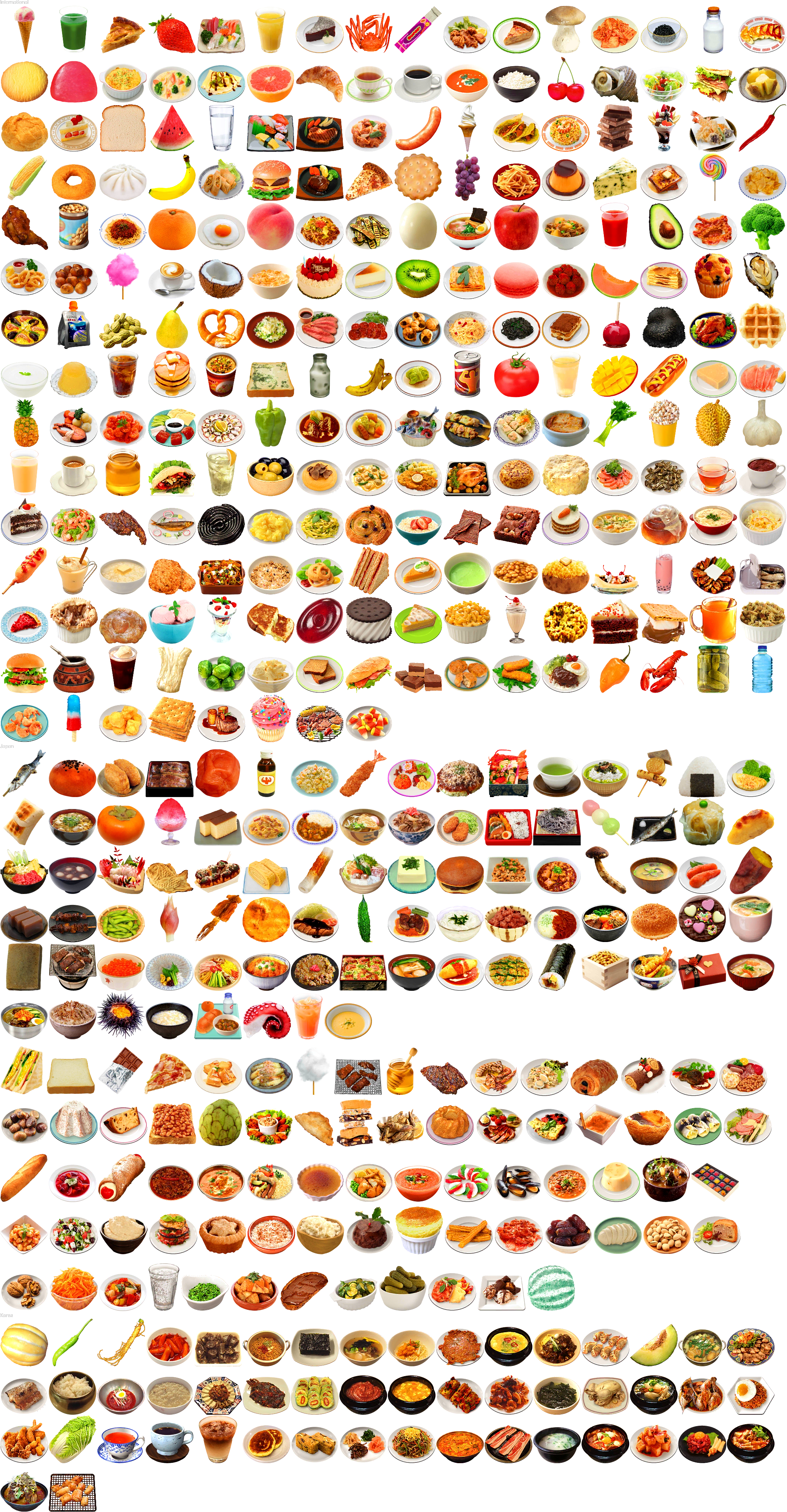 3DS - Tomodachi Life - Food - The Spriters Resource