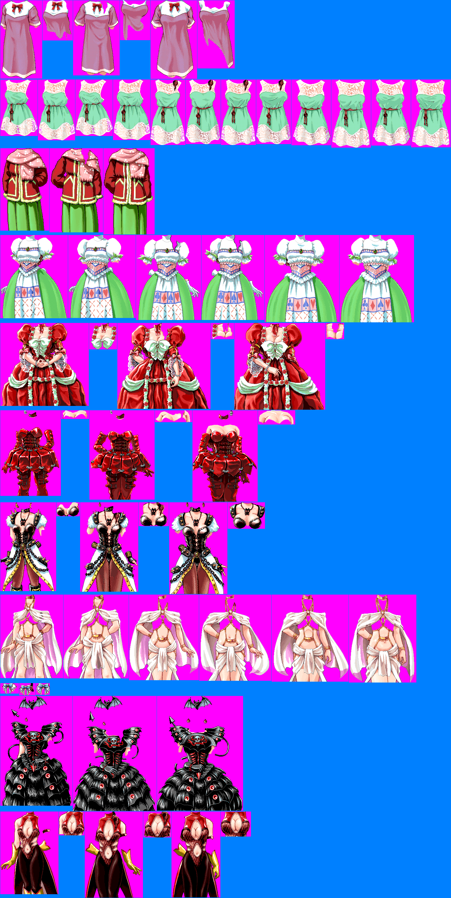 The Spriters Resource Full Sheet View Princess Maker 2 Outfits Older