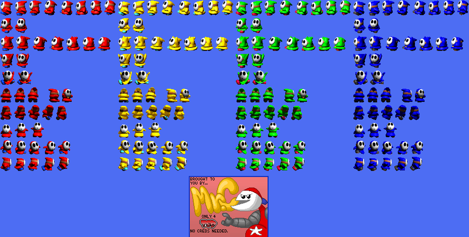 The Spriters Resource Full Sheet View Yoshi S Story Shy Guy