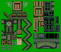 Snes Super Mario World Ghost House Tiles The