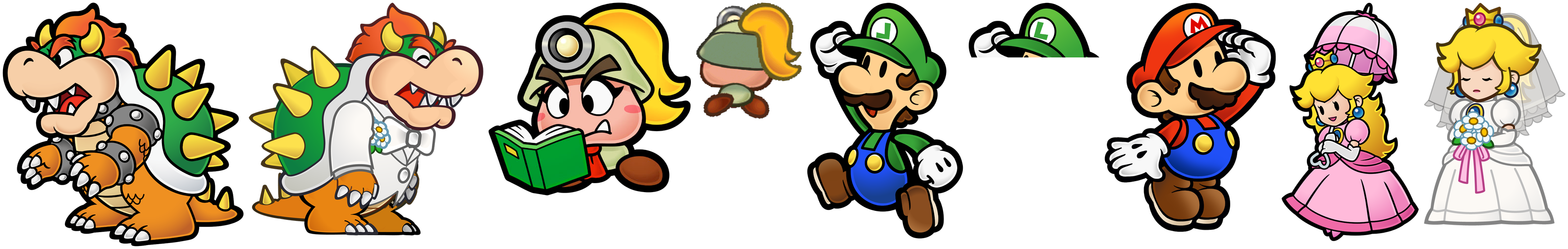 The Spriters Resource Full Sheet View Super Smash Bros Brawl Paper Mario Trophies
