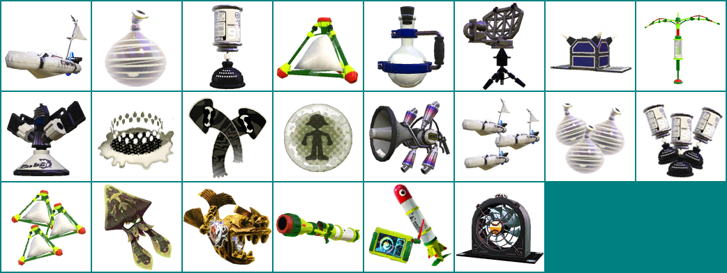 The Spriters Resource Full Sheet View Splatoon Sub Special Weapon Icons