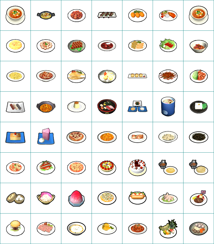 Wii - Cooking Mama: Cook Off - Food Icons - The Spriters ... The Sims Resource