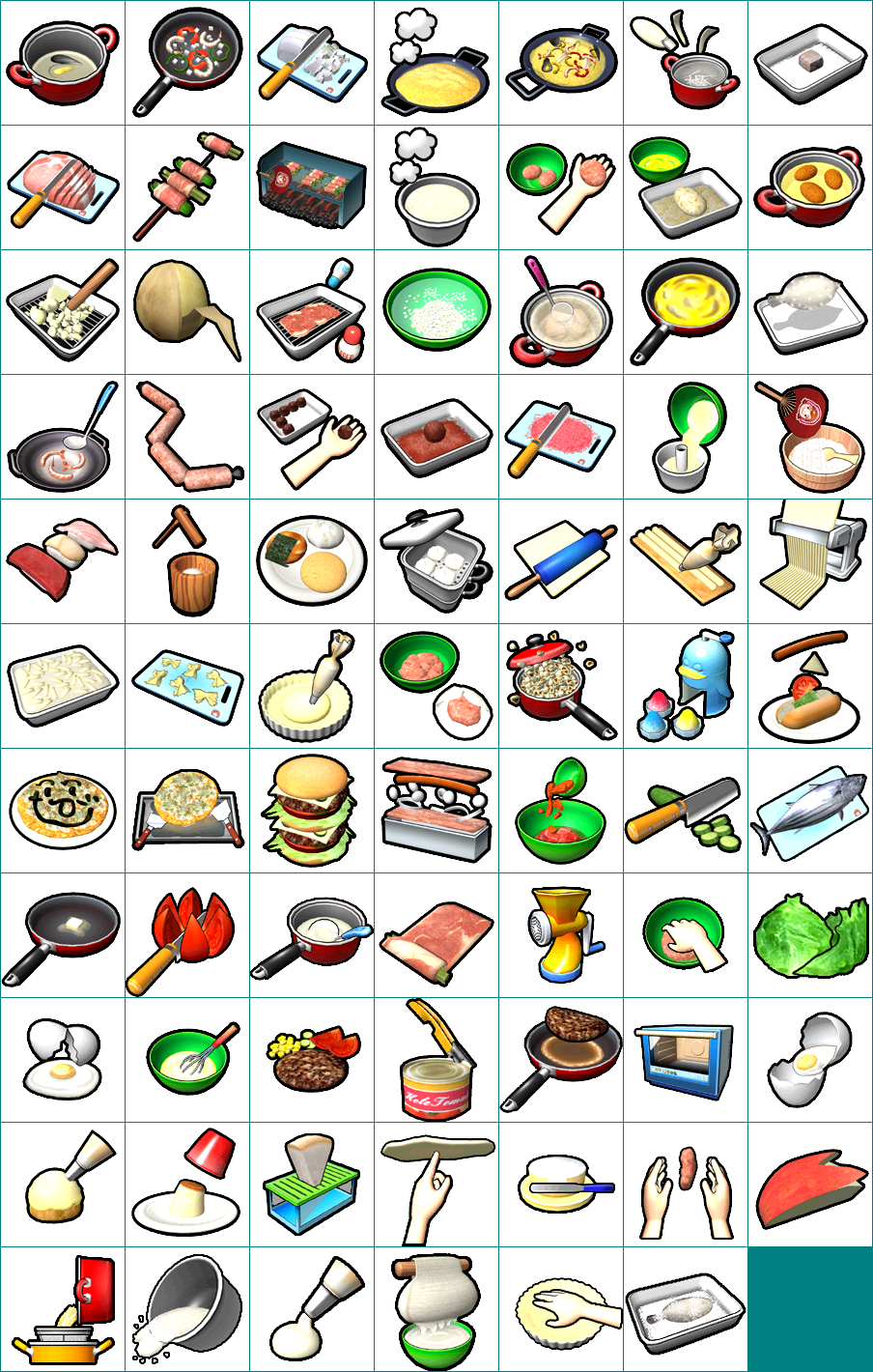 wii - cooking mama  cook off - steps