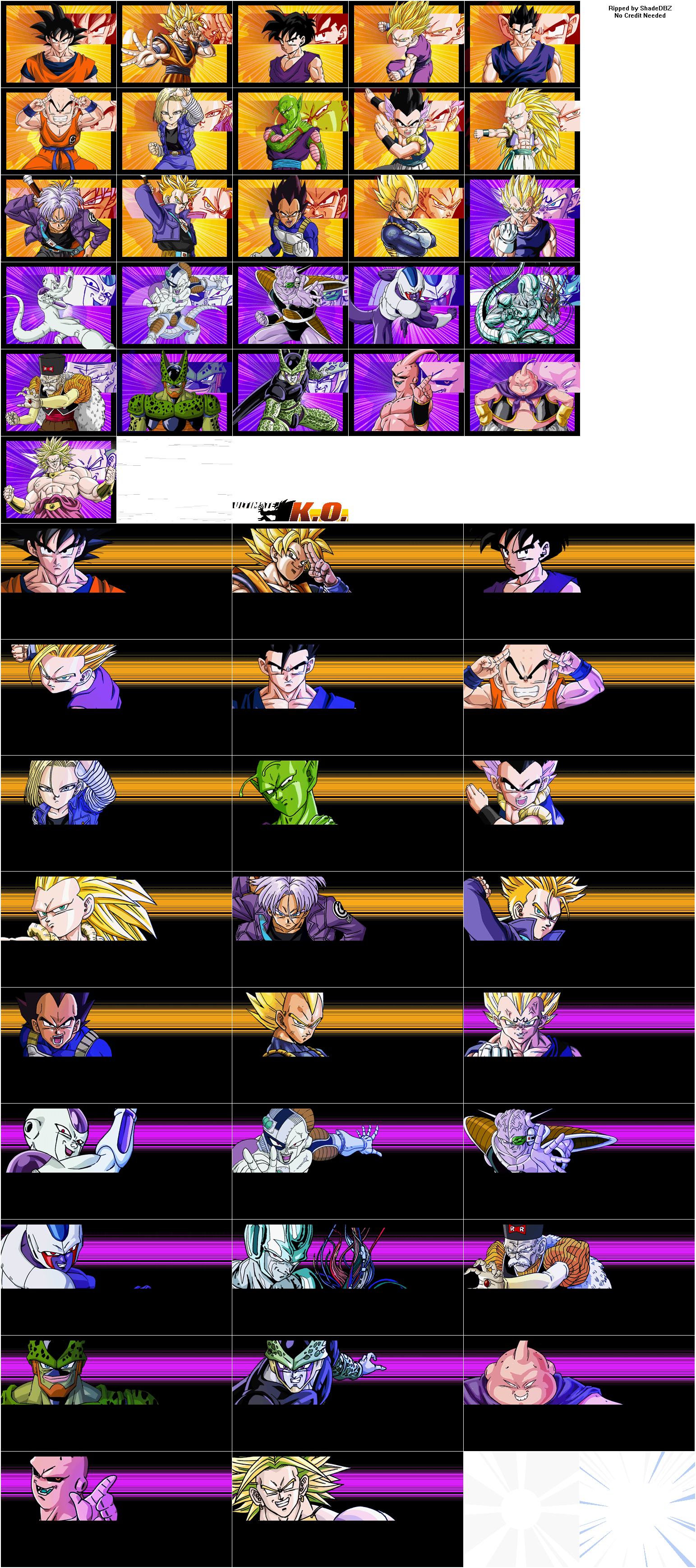The Spriters Resource Full Sheet View Dragon Ball Z