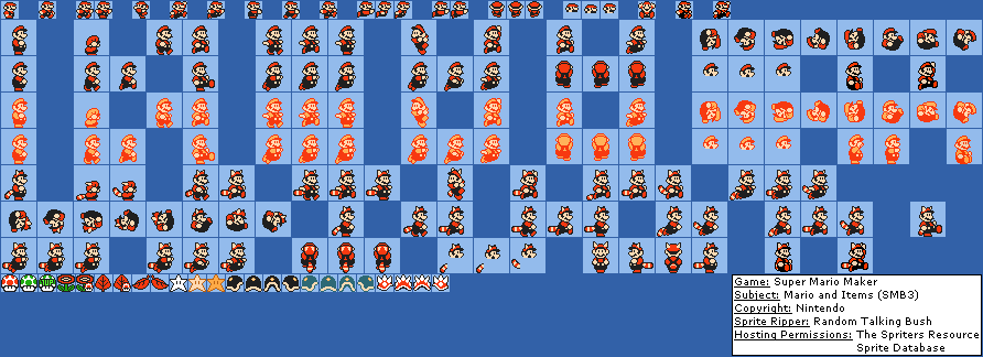 Mario and Items (SMB3)
