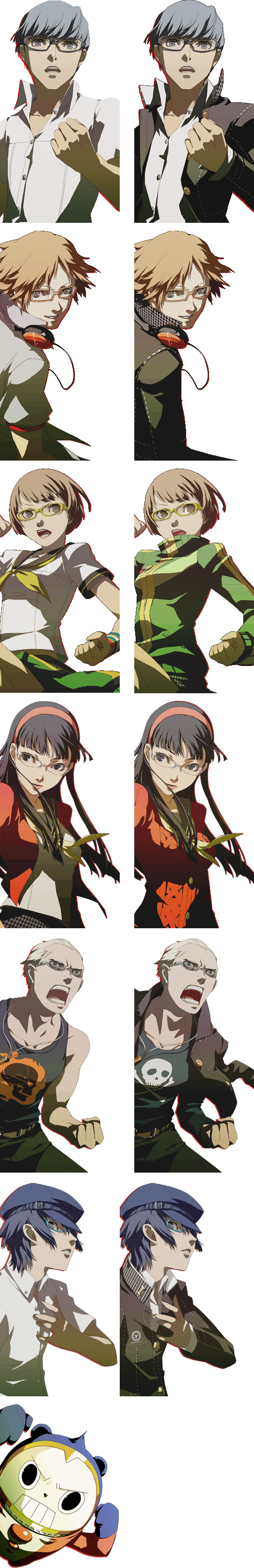 Persona 4 - 3- and 4-Panel All Out Attack