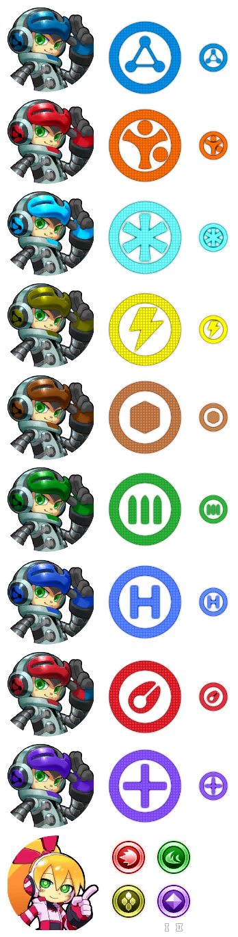 Mighty No. 9 - Characters & Weapons Icons (Beta)