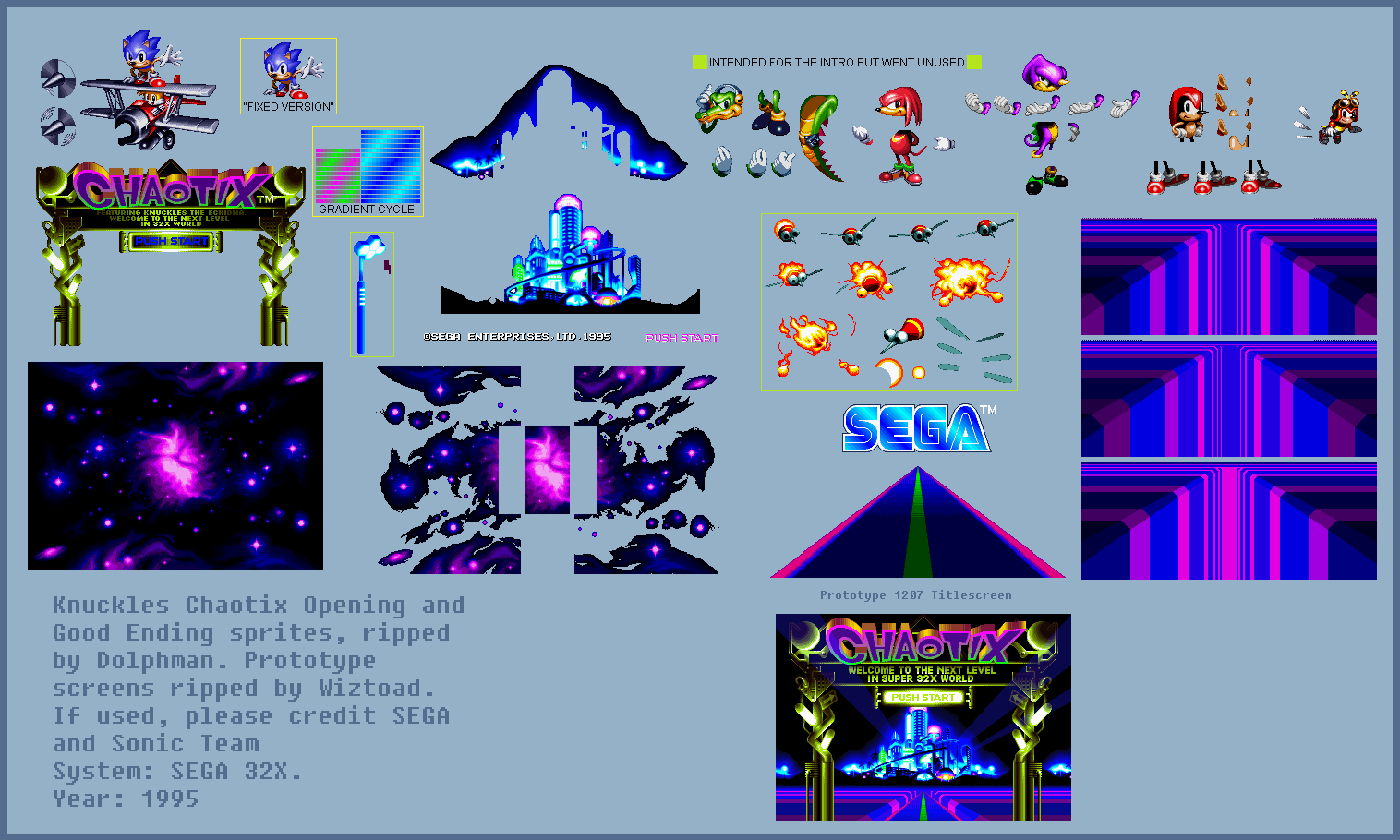 The Spriters Resource Full Sheet View Knuckles Chaotix 32x Opening Sequence Good Ending