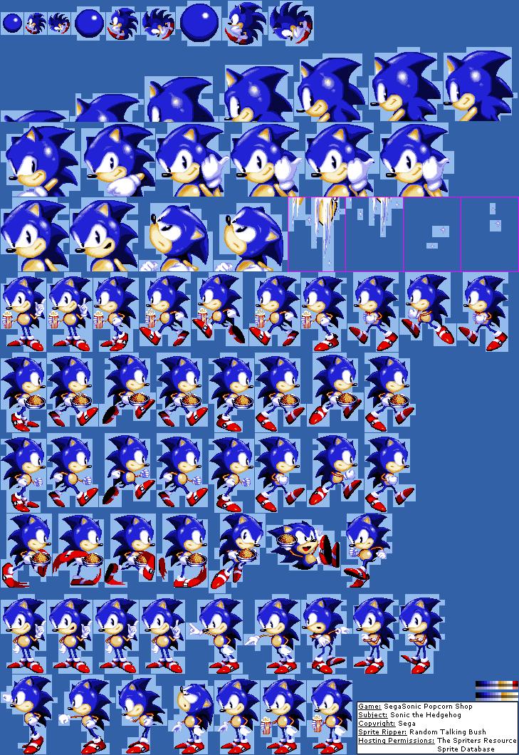 Arcade Segasonic Popcorn Shop Sonic The Hedgehog The