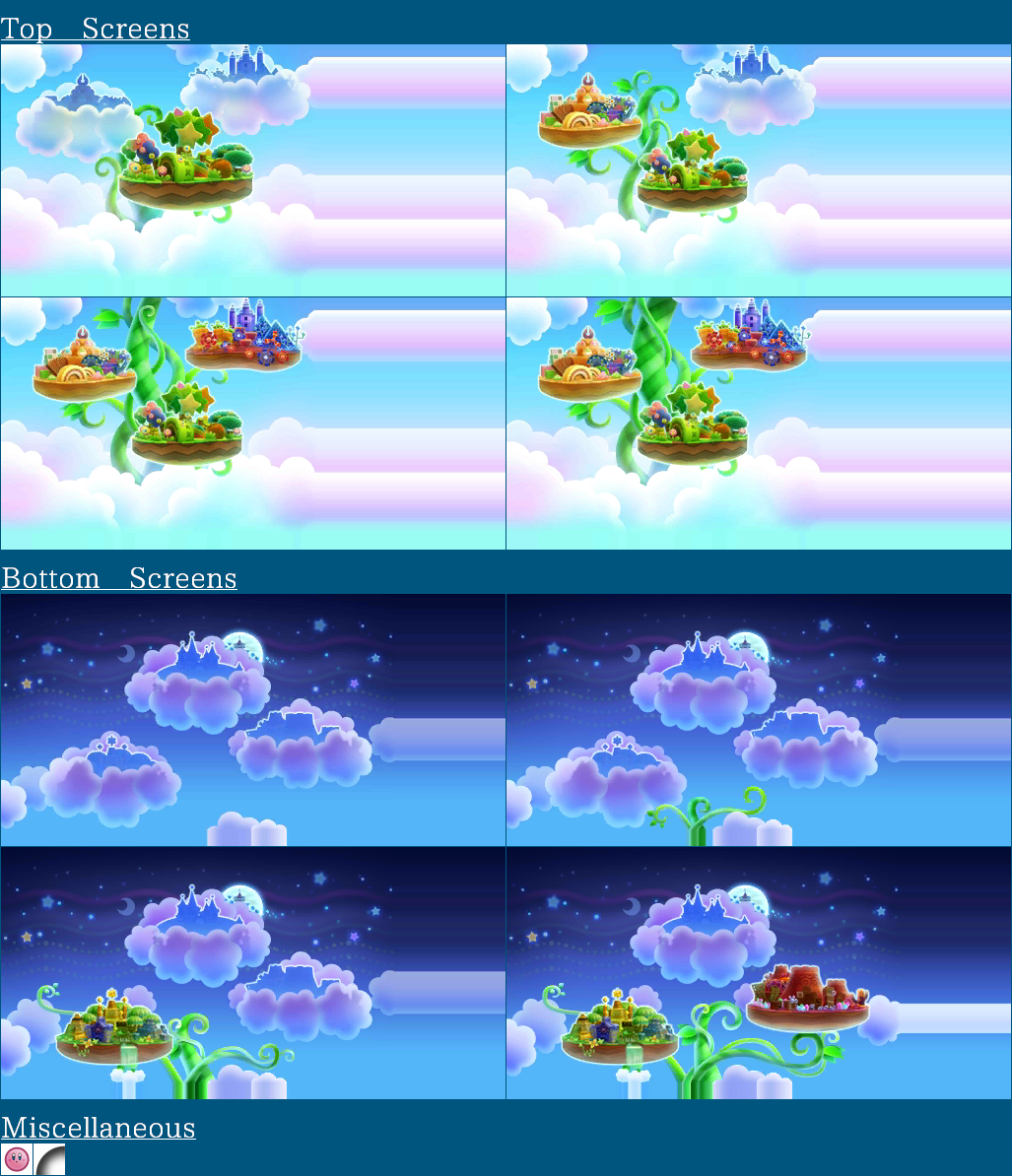 The Spriters Resource - Full Sheet View - Kirby: Triple ...