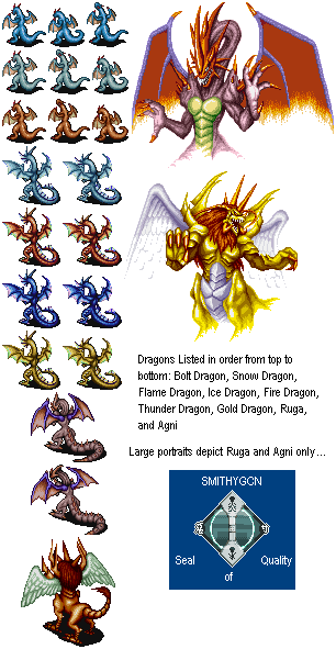snes breath of fire dragon forms the spriters resource