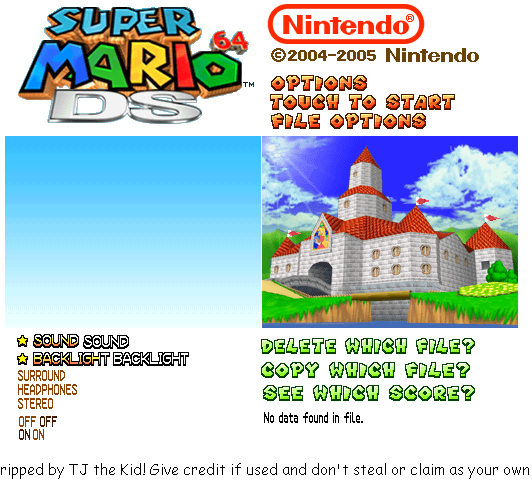 Title Screen & File Select