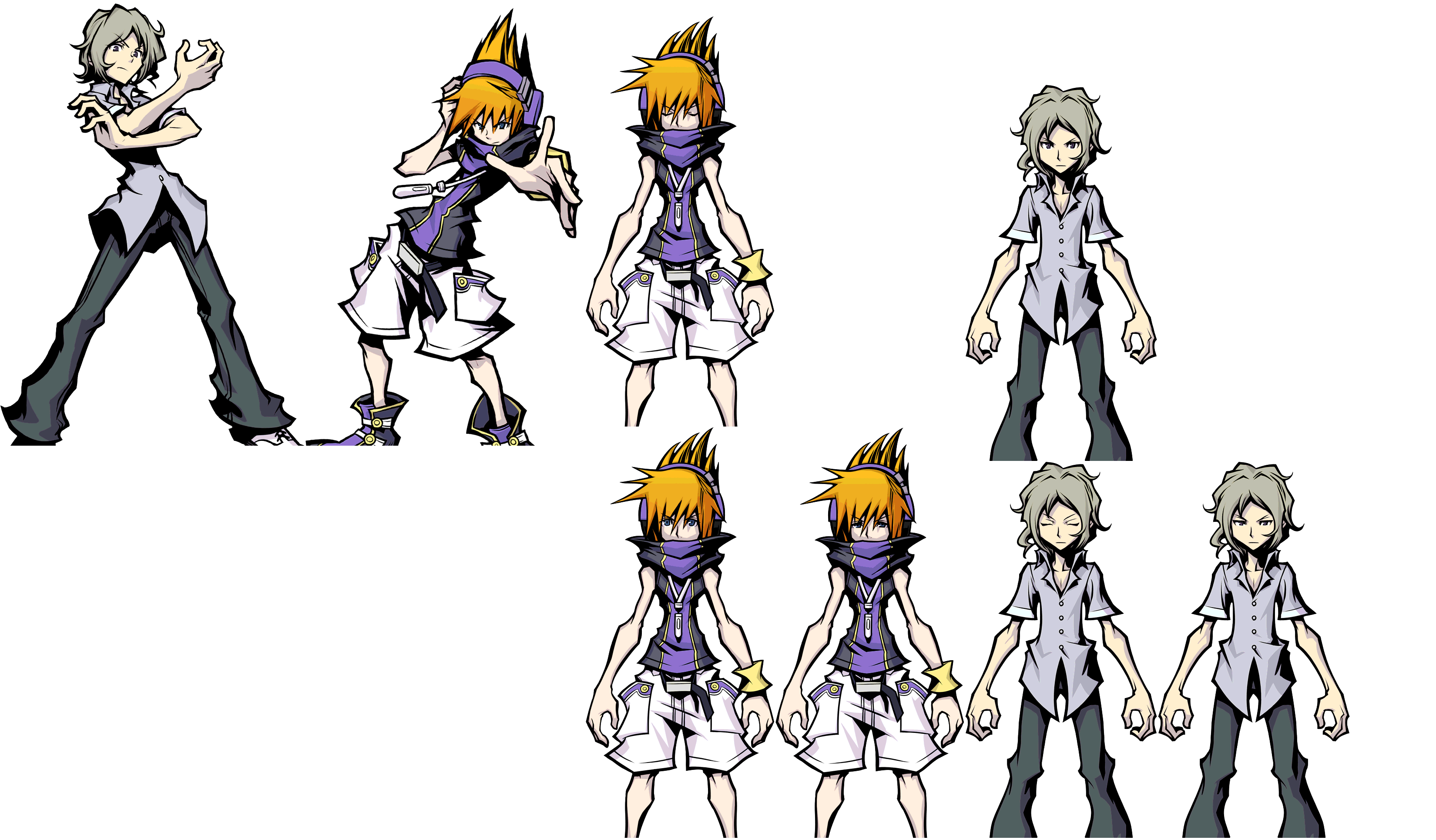 Mobile The World Ends With You Solo Remix Neku Amp Joshua Fusion The Spriters Resource