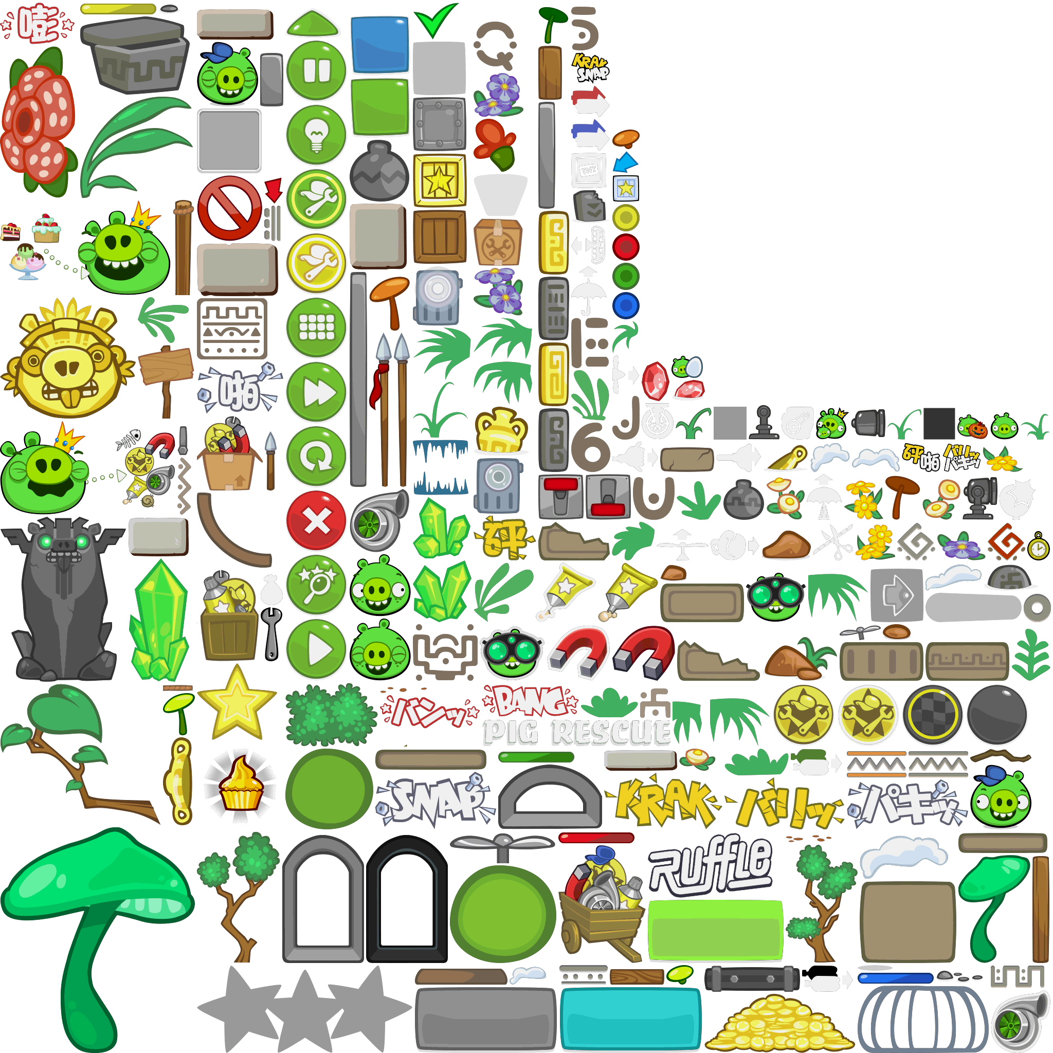 Mobile - Bad Piggies - In-Game Sprites (2/2) - The Spriters Resource