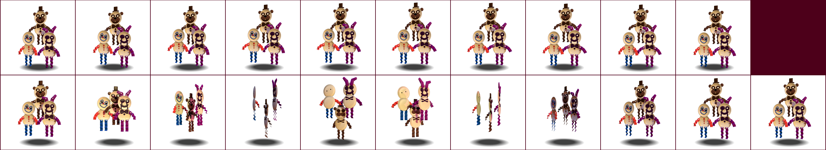 The spriters resource full sheet view fnaf world paperpals