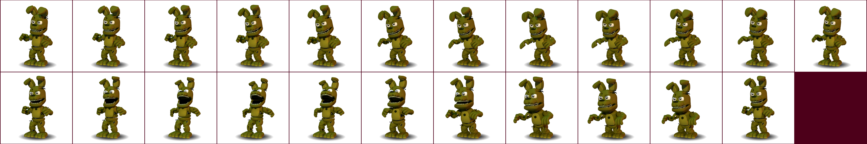 The spriters resource full sheet view fnaf world springtrap