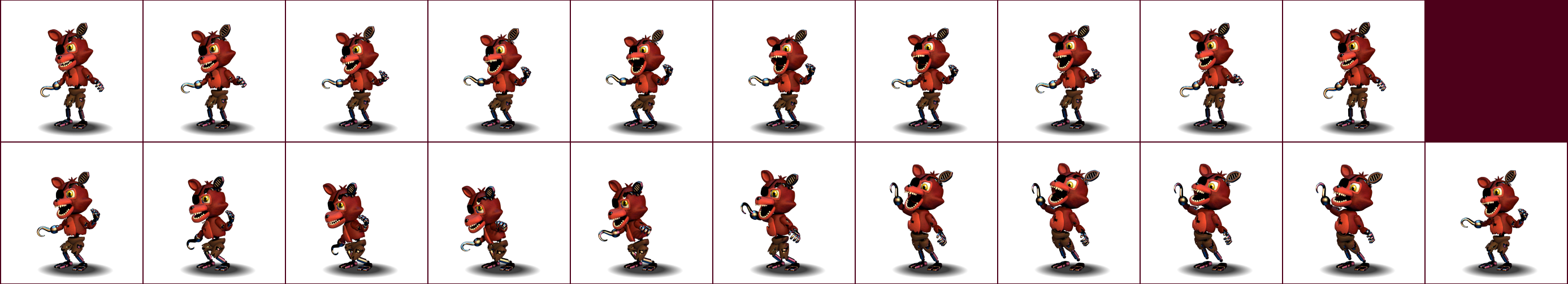 The spriters resource full sheet view fnaf world withered foxy