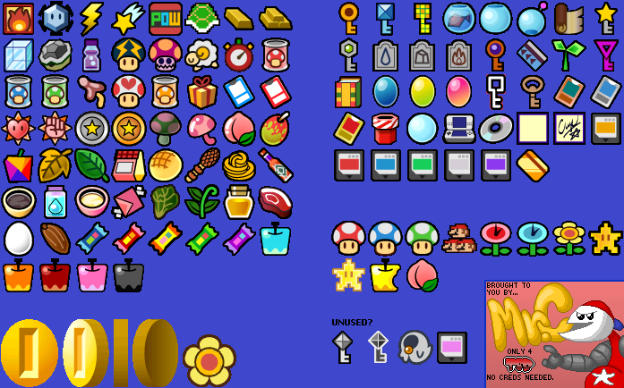 wii super paper mario items the spriters resource