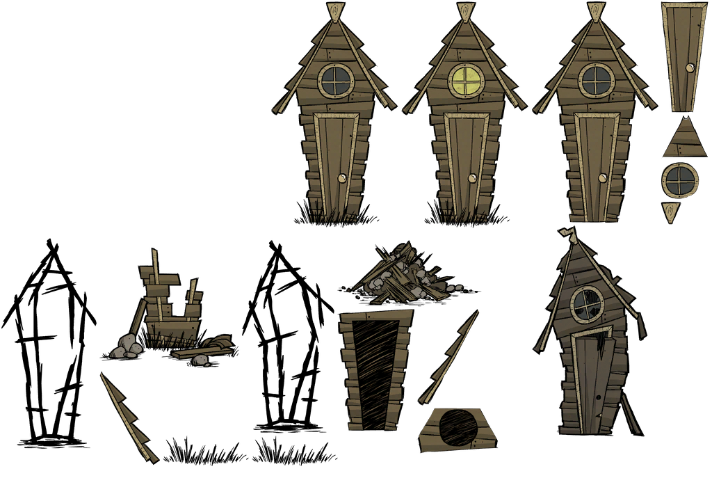 The Spriters Resource Full Sheet View Don T Starve Pig House