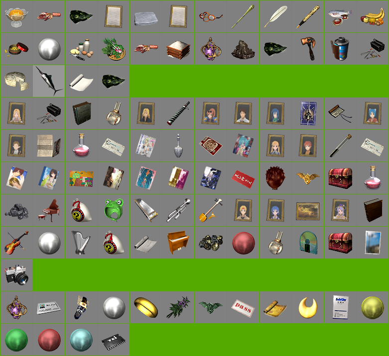 Materials, Keys & Other Items Icons