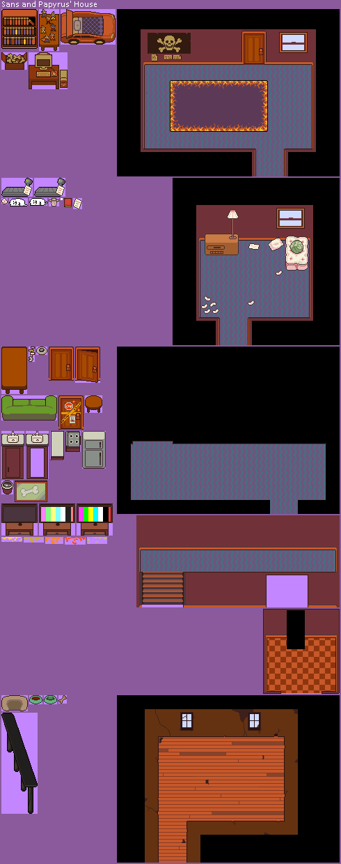 Papyrus and Sans's House