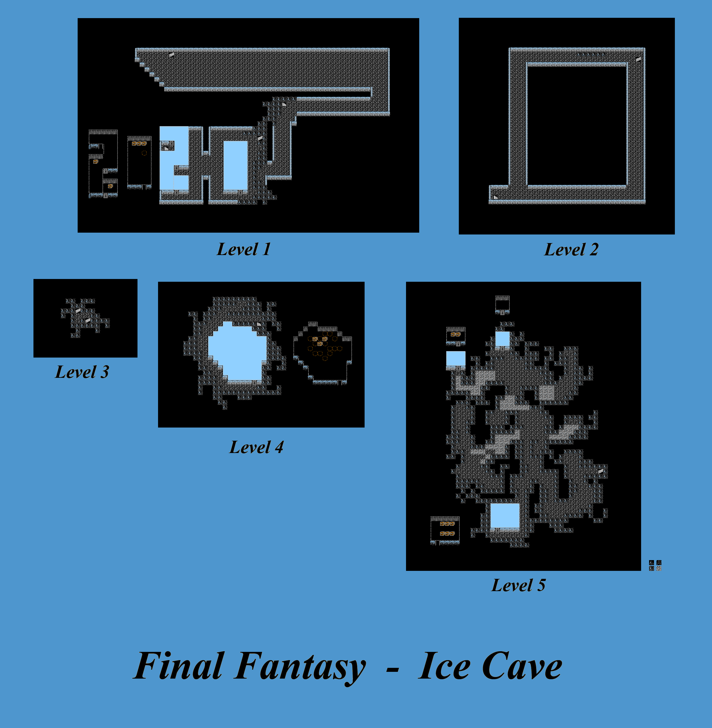 The Spriters Resource Full Sheet View Final Fantasy 1 Ice Cave