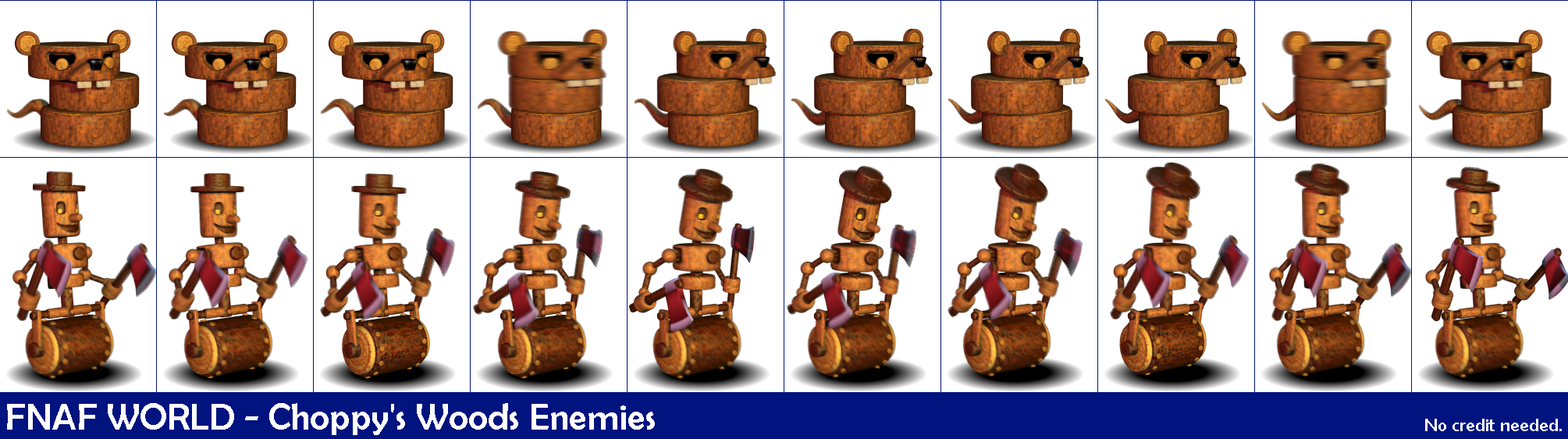 Pc Computer Fnaf World Choppy S Woods Enemies The
