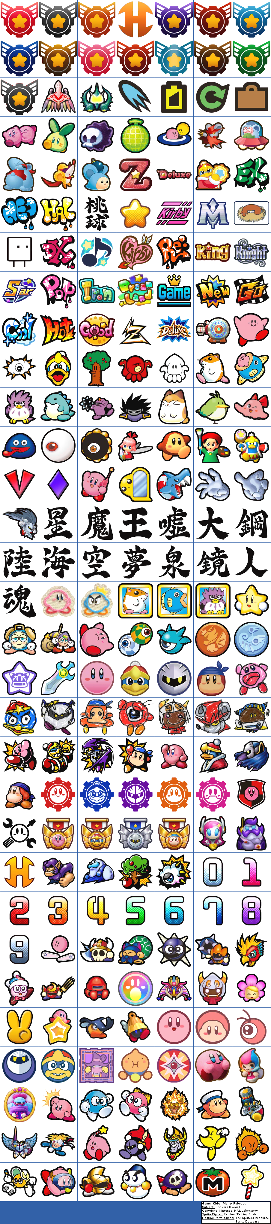 The Spriters Resource Full Sheet View Kirby Planet Robobot Stickers Large