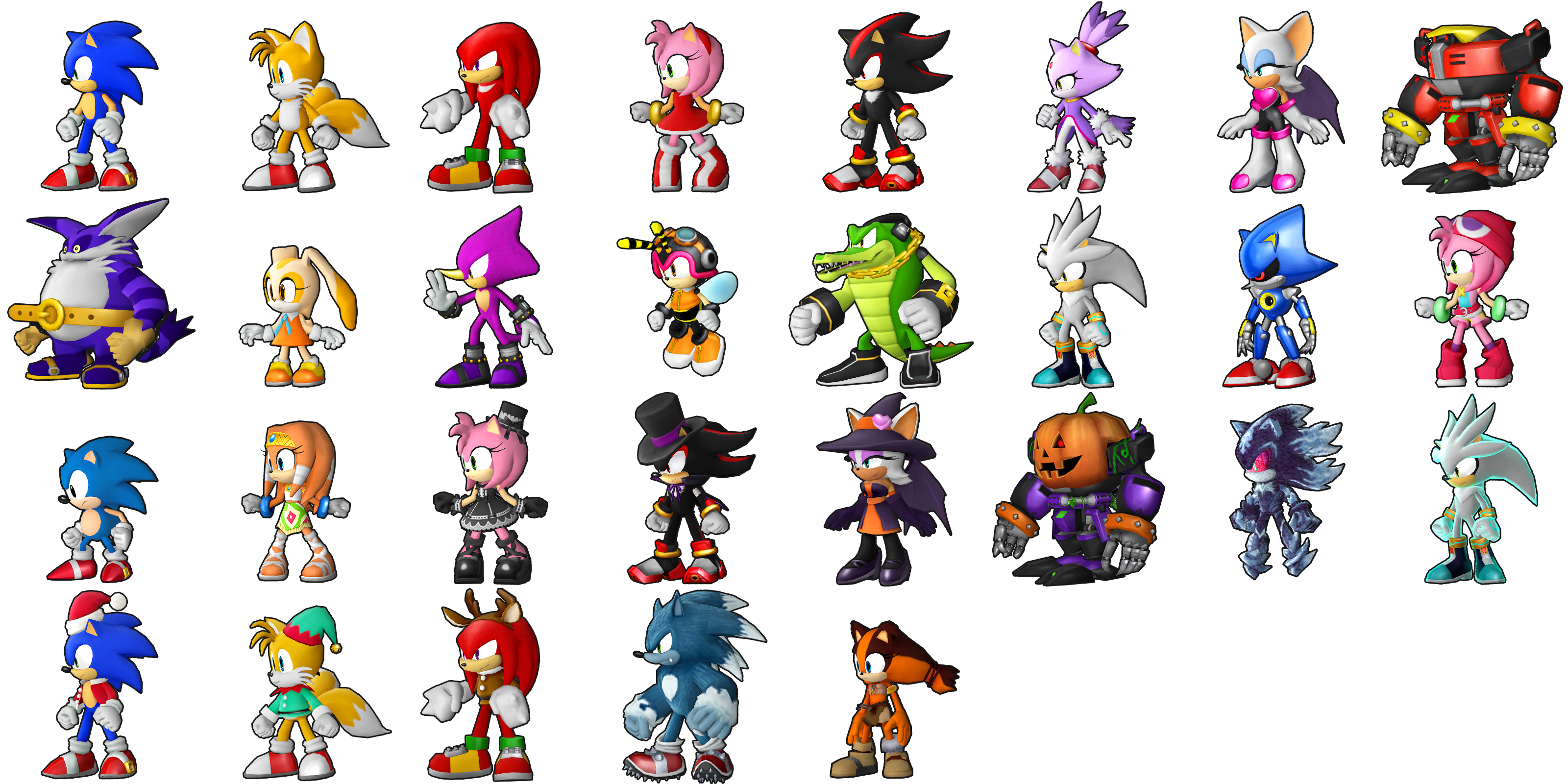 The Spriters Resource Full Sheet View Sonic Runners