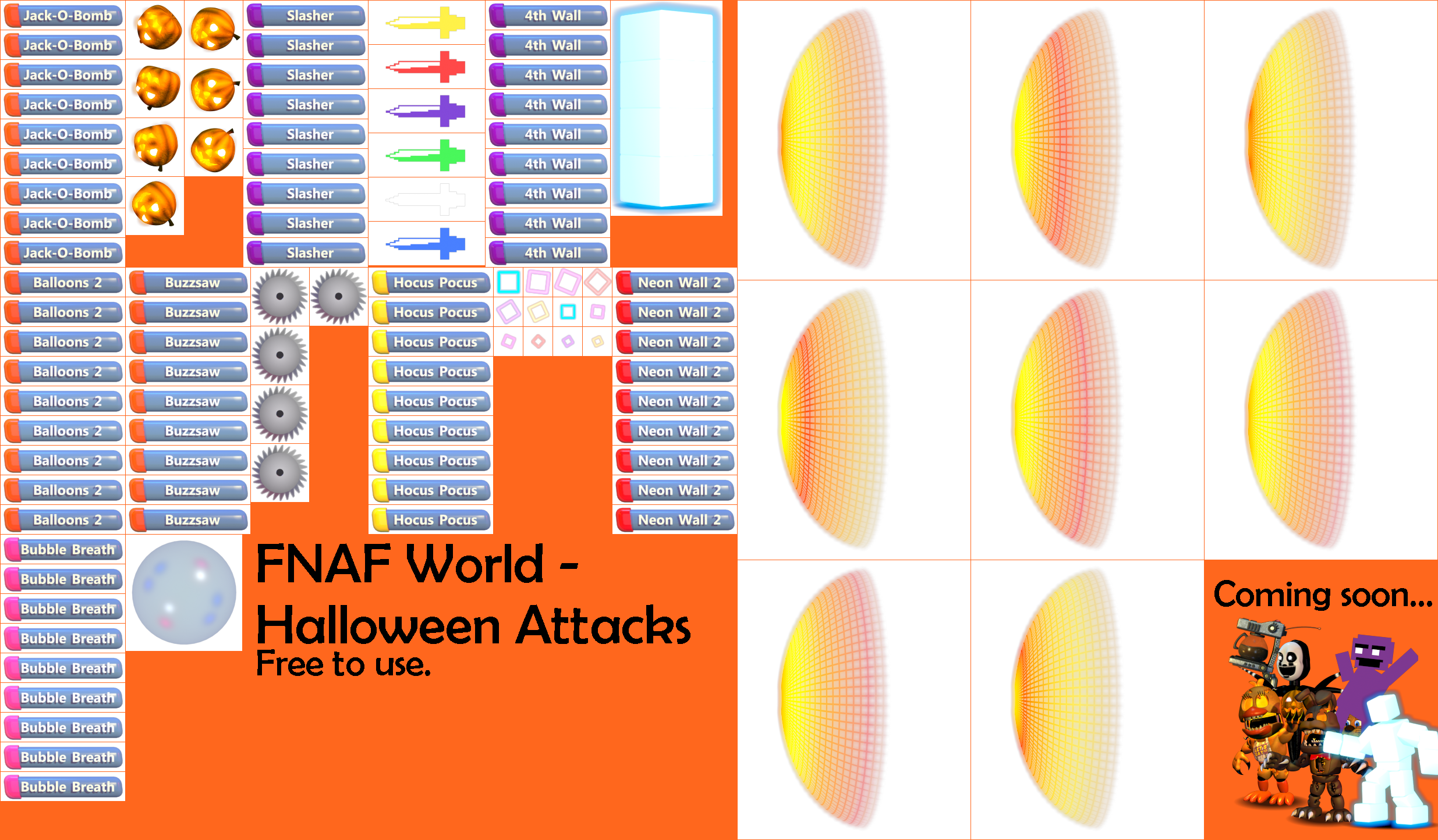 The Spriters Resource Full Sheet View Fnaf World
