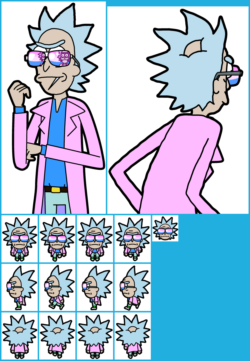 The Spriters Resource Full Sheet View Pocket Mortys Miami Rick