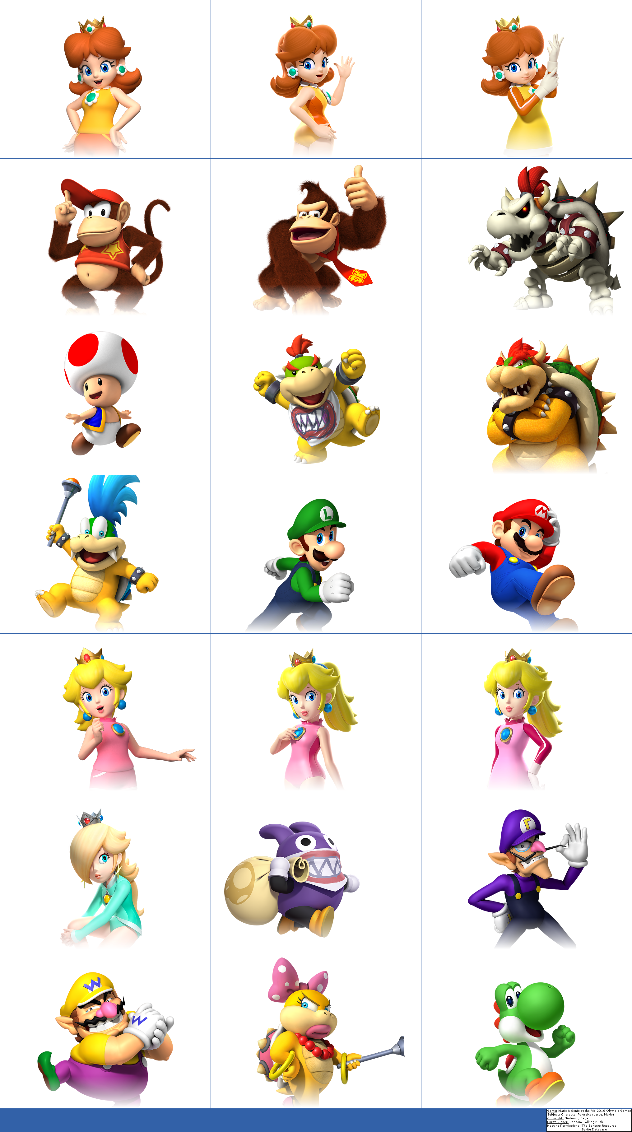 Character Portraits (Large, Mario)