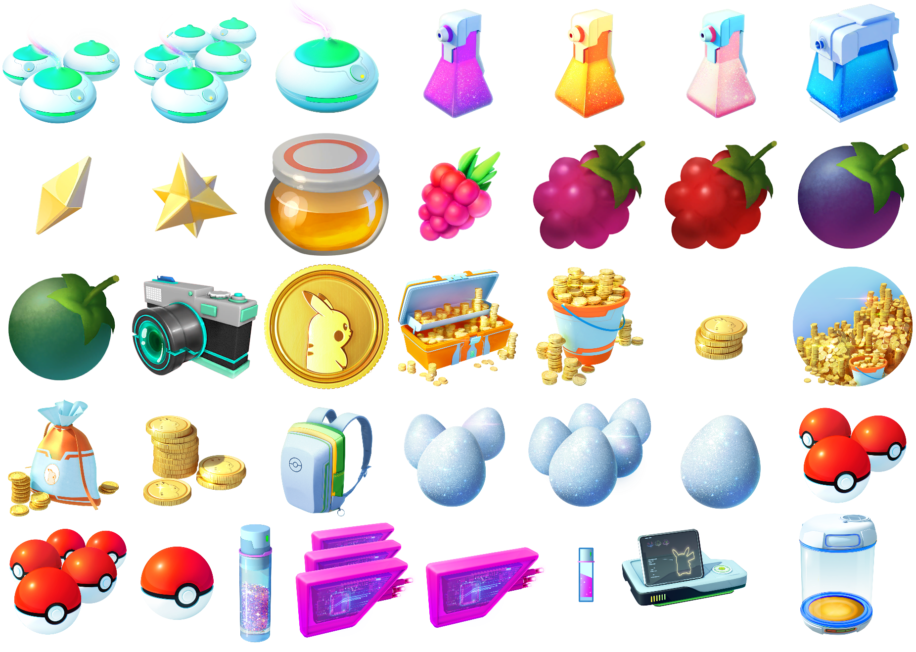 The Spriters Resource Full Sheet View Pok 233 Mon Go Items Amp Store Icons