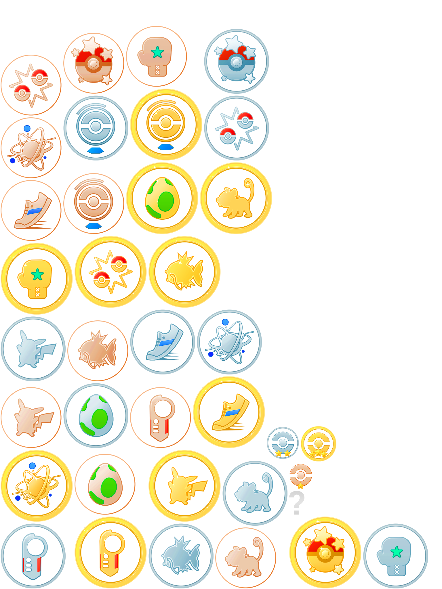 The Spriters Resource Full Sheet View Pok 233 Mon Go Medals
