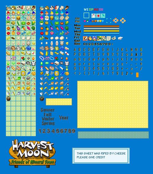Game Harvest Moon Visual Boy Advance