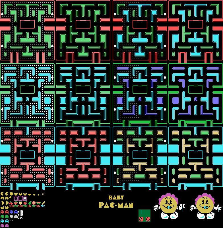 arcade - baby pac-man - general sprites