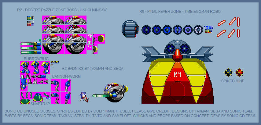 Sonic the Hedgehog Customs - Sonic CD Scrapped Bosses