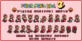 Flying Squirrel Mario (Super Mario Bros. 3 SNES-Style)