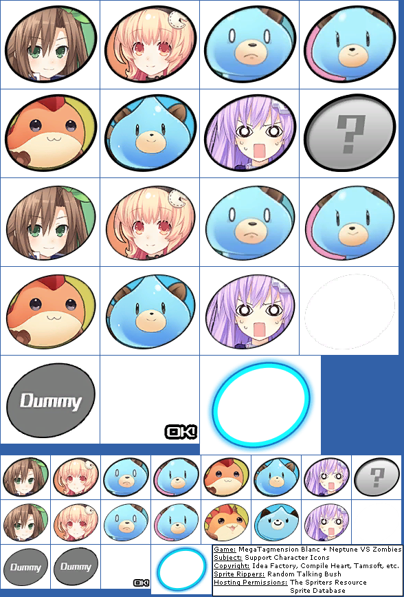 Support Character Icons
