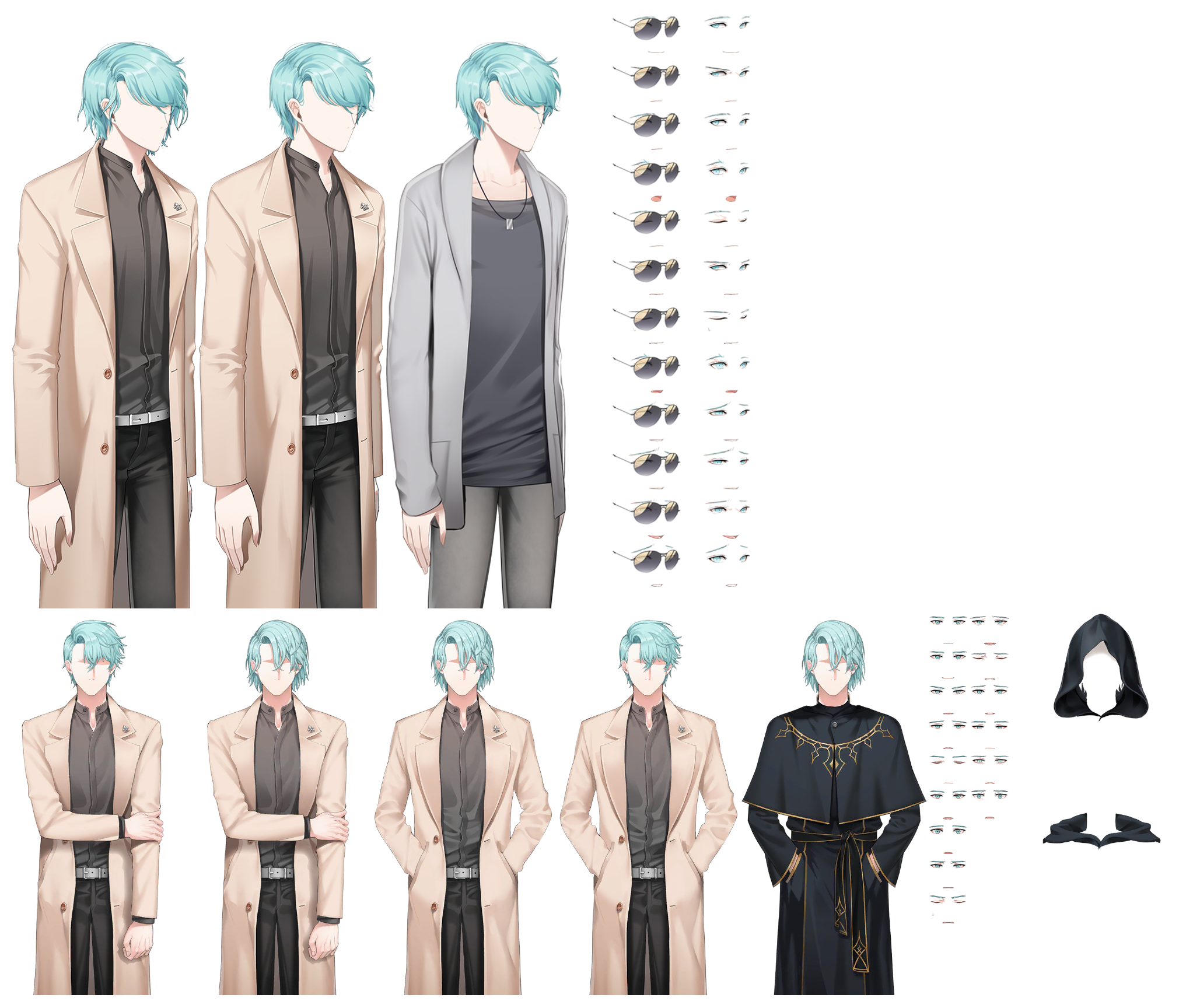 The Spriters Resource Full Sheet View Mystic Messenger V