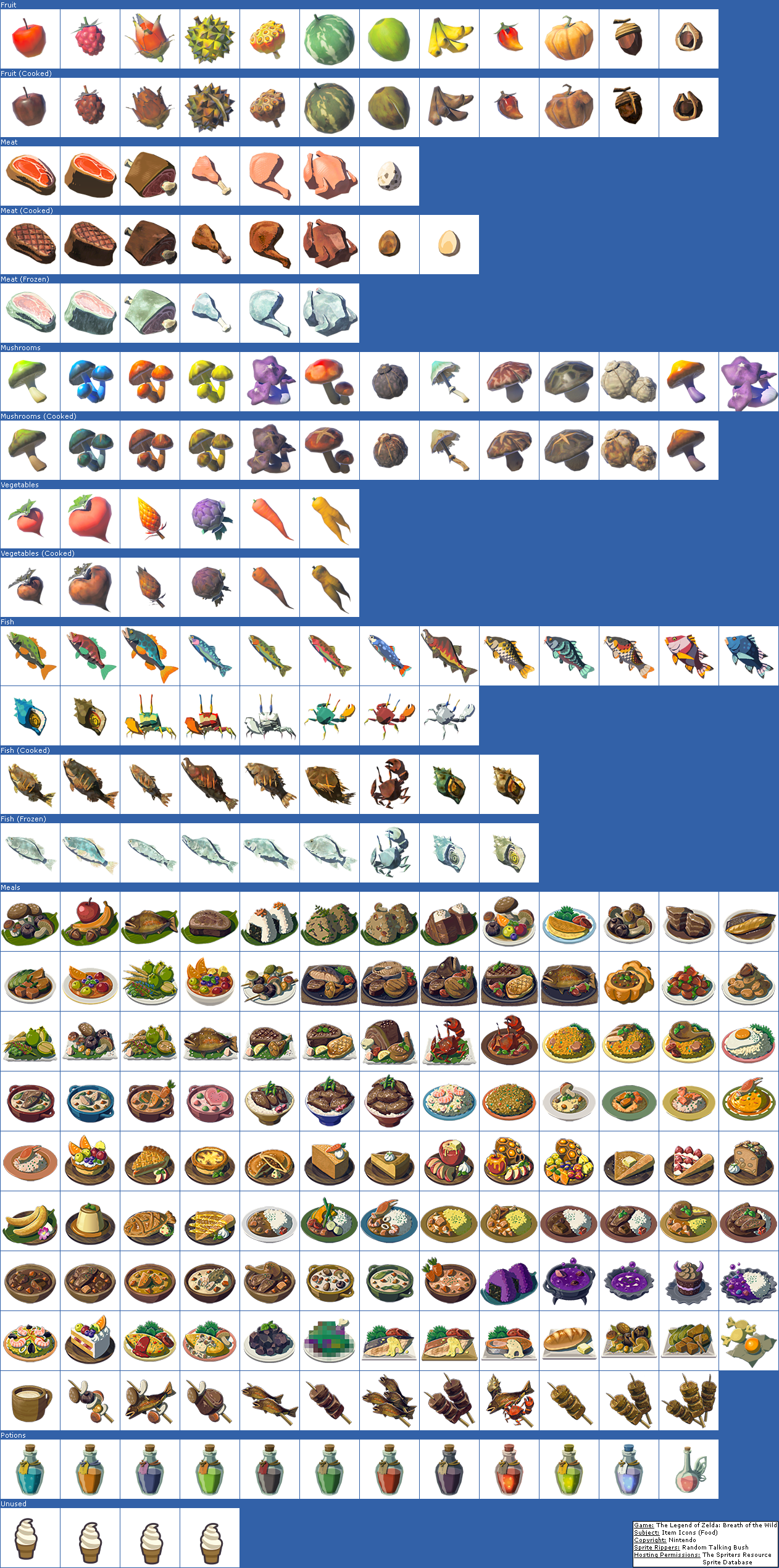 Item Icons (Food)