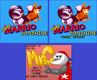 Title Screen (Super Marrio Sunshine)